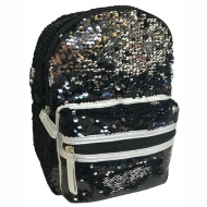 Mini Sequin Backpack - Silver to Black