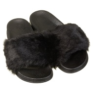 Ladies Fur Sliders