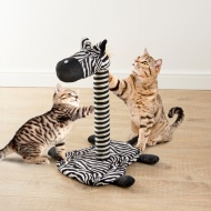 Novelty Cat Scratcher - Zebra