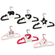 Novelty Velvet Hangers 8pk - Black Heart