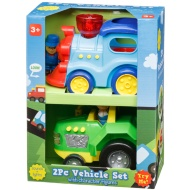 Vehicle Set 2pk - Train & Tractor