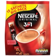 Nescafe Original 3-in-1 Coffee Sachets 15pk