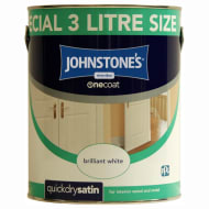 Johnstone's One Coat Quick Dry Satin 3L - White