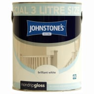 Johnstone's Non Drip Gloss 3L - White
