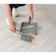 Addis Premium Dustpan & Brush - Grey