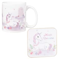 Unicorn Mug & Coaster Set - Purple
