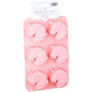 Silicone Unicorn Cupcake Moulds 6pc - Pink