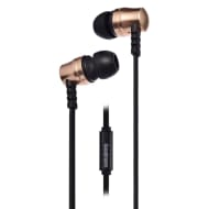 Goodmans Extra Bass Metal Earphones - Gold