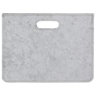 Velvet Magazine Holder - Light Grey