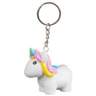Unicorn Keyring - White