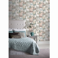 Love Paris Wallpaper - Teal