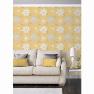 Samba Floral Wallpaper - Yellow