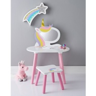 Unicorn Vanity Set with Stool & Mirror
