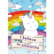 I Believe Colouring Book - Unicorns