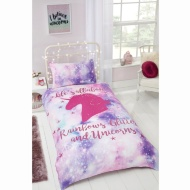 Rainbow Unicorn Single Duvet Set