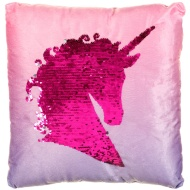 Reversible Sequin Unicorn Cushion