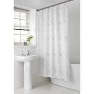 Sparkle Shower Curtain - White