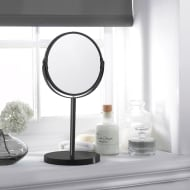 Large Cosmetic Mirror on Stand - Black