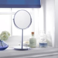 Large Cosmetic Mirror on Stand - Blue