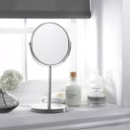 Large Cosmetic Mirror on Stand - Stainless Steel