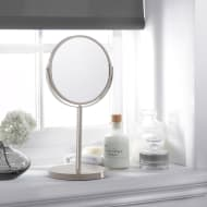 Large Cosmetic Mirror on Stand - Warm Grey