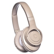 Goodmans Studio Bass Wireless Headphones - Beige