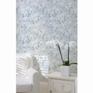 Lipsy Spring Blossom Wallpaper - Teal