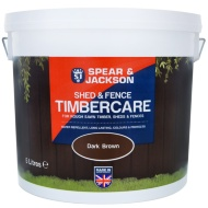 Spear & Jackson Shed & Fence Timbercare 5L - Dark Brown