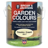 Spear & Jackson Garden Colours 2.5L - Country Cream