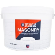 Spear & Jackson Masonry Paint Smooth 10L - Pure Brilliant White