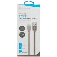 Goodmans USB Type C Metal Charging Cable - Gold