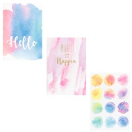 Mini Notebooks 3pk - Watercolour