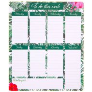 Weekly Planner Pad - Tropical