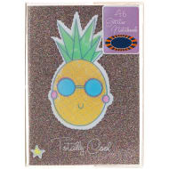 A6 PVC Glitter Notebook - Pineapple