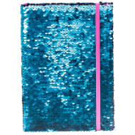 A5 Reversible Sequin Notebook - Blue