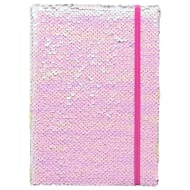 A5 Reversible Sequin Notebook - Pink