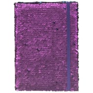 A5 Reversible Sequin Notebook - Purple