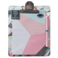 Magnetic Clipboard & Notepad - Geo
