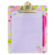 Magnetic Clipboard & Notepad - Unicorn