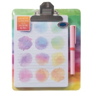 Magnetic Clipboard & Notepad - Watercolour