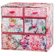 5 Drawer Mini Box - Floral