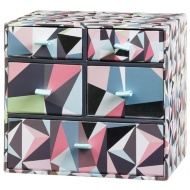5 Drawer Mini Box - Geo