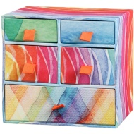 5 Drawer Mini Box - Watercolour