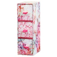 3 Drawer Mini Box - Floral