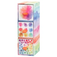 3 Drawer Mini Box - Watercolour