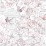 Flower Wall Wallpaper - White
