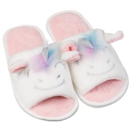 Ladies Open Toe Unicorn Slippers