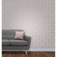 Apex Trellis Wallpaper - Rose Gold