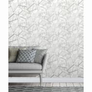 Fractal Marble Wallpaper - Silver