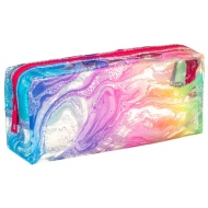 Clear Fashion Pencil Case - Watercolour Swirls